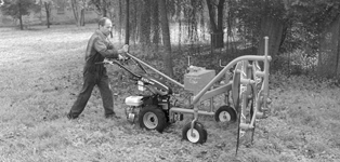 Machines for power-mowers and cultivators